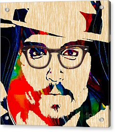 Johnny Depp Collection Acrylic Print by Marvin Blaine