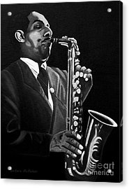 Johnny Hodges Acrylic Print by Barbara McMahon