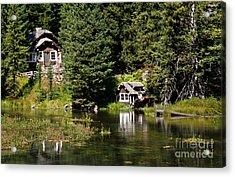Johnny Sack Cabin Acrylic Print by Robert Bales