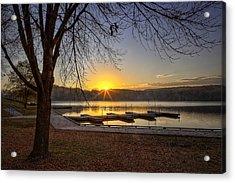 Johnson Lake Sunrise Acrylic Print by Jeff Burton