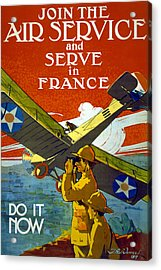 Join The Air Service, 1917 Acrylic Print by J. Paul Verrees