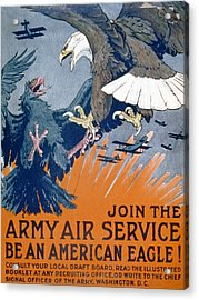 Join The Army Air Service, Be An Acrylic Print by Charles Livingston Bull