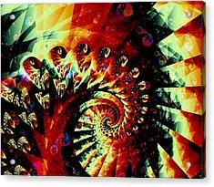 Joker Acrylic Print by Anastasiya Malakhova