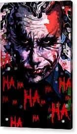 Joker Acrylic Print by Jeremy Scott