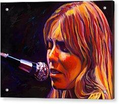 Joni Mitchell..legend Acrylic Print by Vel Verrept