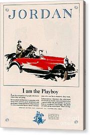 Jordan 1926 1920s Usa Cc Cars Horses Acrylic Print by The Advertising Archives
