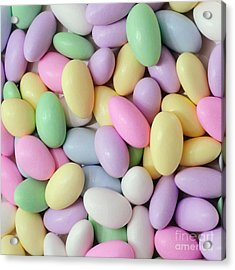 Jordan Almonds - Weddings - Candy Shop - Square Acrylic Print by Andee Design