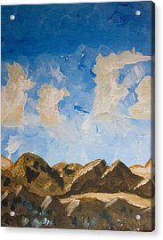 Joshua Tree National Park And Summer Clouds Acrylic Print by Carolina Liechtenstein
