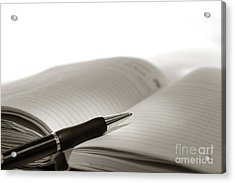 Journal Acrylic Print by Olivier Le Queinec