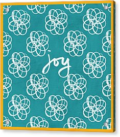 Joy Boho Floral Print Acrylic Print by Linda Woods