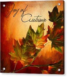 Joy Of Autumn Acrylic Print by Lourry Legarde