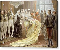 Jubilee Drawing Room, From The Illustrated London News, 21st May 1887 Litho Acrylic Print by Henry Stephen Ludlow