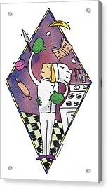 Juggling Chef Acrylic Print by Diane Thornton