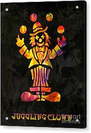 Juggling Clown By Kaye Menner Acrylic Print by Kaye Menner