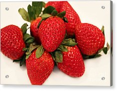 Juicy Strawberries Acrylic Print by Barbara Griffin