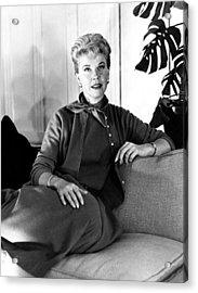Julie, Doris Day, Relaxing Acrylic Print by Everett