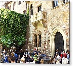 Juliet's Balconey - Verona Italy Acrylic Print by Jon Berghoff