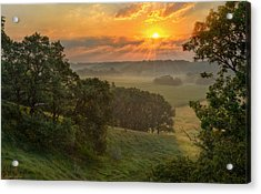 July Morning Along The Ridge Acrylic Print by Bruce Morrison