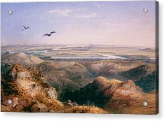 Junction Of The Yellowstone And The Issouri Acrylic Print by Karl Bodmer