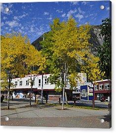 Juneau In The Fall Acrylic Print by Cathy Mahnke
