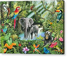 Jungle Acrylic Print by Mark Gregory