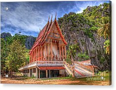 Jungle Temple V2 Acrylic Print by Adrian Evans