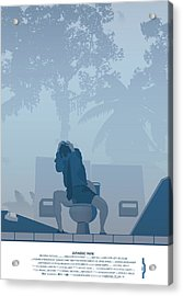 Jurassic Park Poster - Feat. Gennaro Acrylic Print by Peter Cassidy