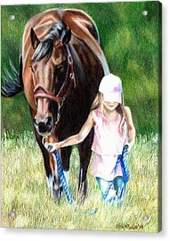 Just A Girl And Her Horse Acrylic Print by Shana Rowe Jackson