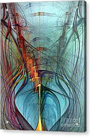 Just A Melody-abstract Art Acrylic Print by Karin Kuhlmann