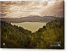 Just Before The Storm - Ardales Acrylic Print by Mary Machare