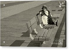 Just Chilling Acrylic Print by Jeff Breiman
