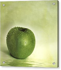 Just Green Acrylic Print by Priska Wettstein