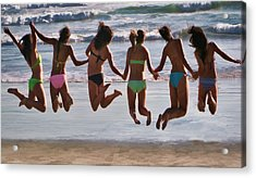 Just Jump Acrylic Print by Tammy Espino