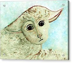Just One Little Lamb Acrylic Print by Eloise  Schneider