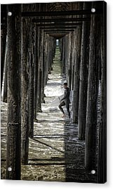 Just Passing Through Acrylic Print by Joan Carroll