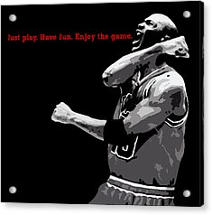 Just Play Acrylic Print by Mike Maher