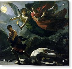 Justice And Divine Vengeance Pursuing Crime Acrylic Print by Pierre-Paul Prud'hon
