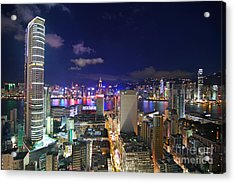 K11 In Tsim Sha Tsui In Hong Kong At Night Acrylic Print by Lars Ruecker