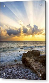 Kaena Point State Park Sunset 2 - Oahu Hawaii Acrylic Print by Brian Harig