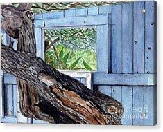 Kailua Beach House Acrylic Print by Mukta Gupta