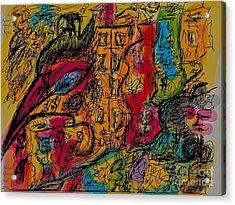 Kakadu  Dream And Desire.  Money Money Money Money??  Nonconformist Art . The Young Rebels Acrylic Print by  Andrzej Goszcz