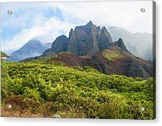 Kalalau Valley - Kauai Hawaii Acrylic Print by Brian Harig
