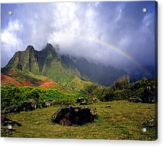 Kalalau Valley Kauai Acrylic Print by Kevin Smith