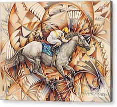Kaleidoscope Rider Acrylic Print by Ricardo Chavez-Mendez
