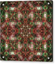 Kaleidoscopic Mandala  Acrylic Print by Gregory Scott