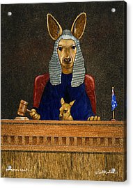 Kangaroo Court... Acrylic Print by Will Bullas