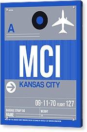 Kansas City Airport Poster 2 Acrylic Print by Naxart Studio