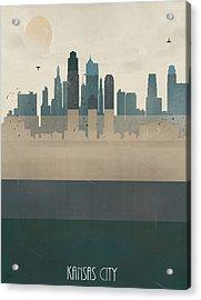 Kansas City Missouri Skyline Acrylic Print by Bri B