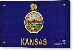 Kansas State Flag Acrylic Print by Pixel Chimp