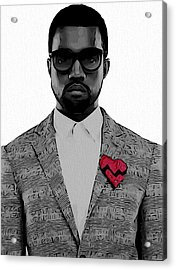 Kanye West  Acrylic Print by Dan Sproul